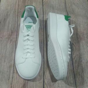 NIB Adidas Stan Smith PK J White Green Sneakers